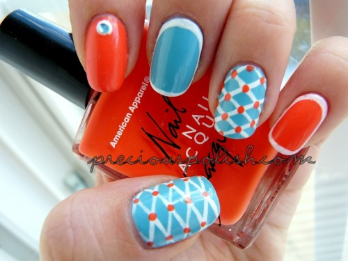"preciouspolish:  summery mix-and-match ☼ ""Lovely Lattice"" on preciouspolish.com"