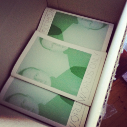 World's Only by the box! Come pick one up at Alaska Projects next Wednesday 6-8. Free music, free drinks and a chance to get your hands on the contents of this box! RSVP on our Facebook page facebook.com/worldsonly - see you there!