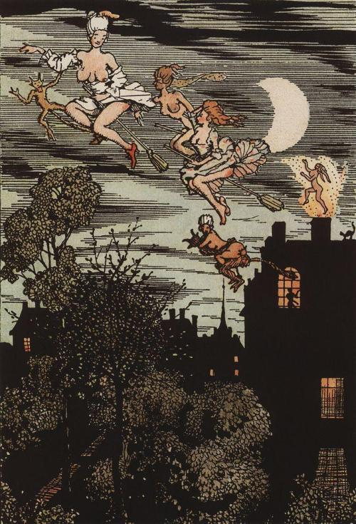Konstantin Somov, illustration from the Book of the Marquise, 1918