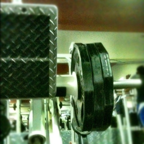 3 plates, 8 reps. Not too bad. #beastmode #ironcity #letsgetpaid #staccedup #ihatelegs (Taken with instagram)