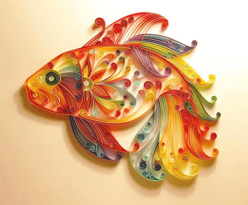 Awesome paper-quilled fish.