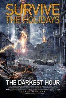 The Darkest Hour (2011)  Summary: Bunch of people in Russia are trying to get out because some kind of electrical alien species as arrived, but you can't see them.  Rating: F. Exactly what I expected. Horrible. They could have done more with this, there are better movies to waste my time with.