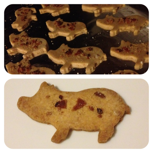 Bacon Maple Sugar Piggies by yours truly