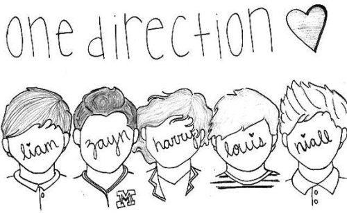 cartoon one direction coloring pages - photo#4