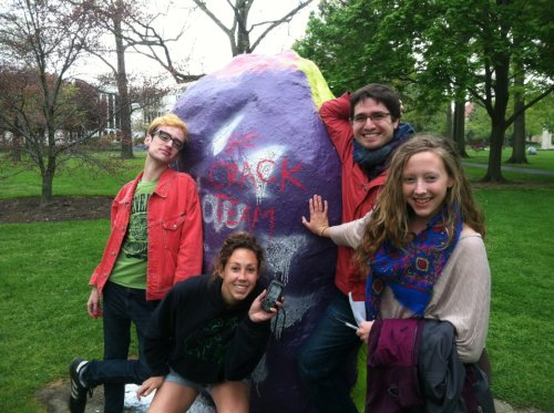 ocgeo:  GIS students go geocaching in Tappan Square
