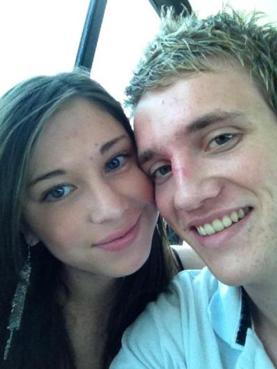 My favourite picture of us :)  Taken on our first holiday together - to Perth! On the cruise that I bought him as a valentine's day present