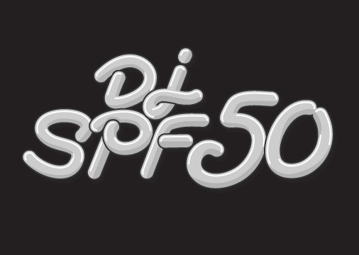A logo I did for my friend and upcoming DJ SPF50.