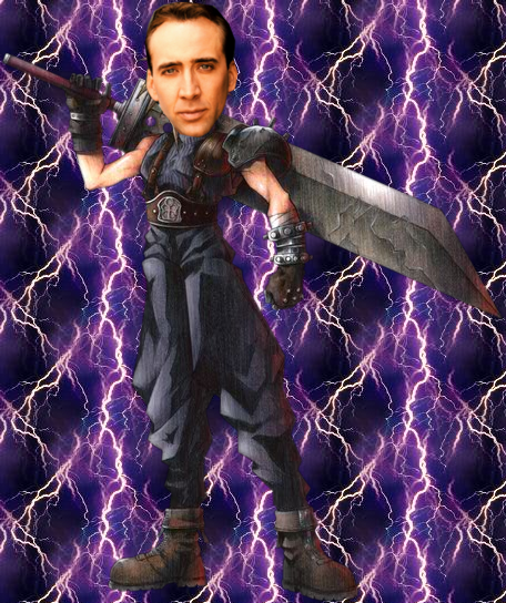 funkgunk:  why was this made.  For my enjoyment. Of course, Nicolas Cage would be the best choice to play Cloud in a live-action adaptation.