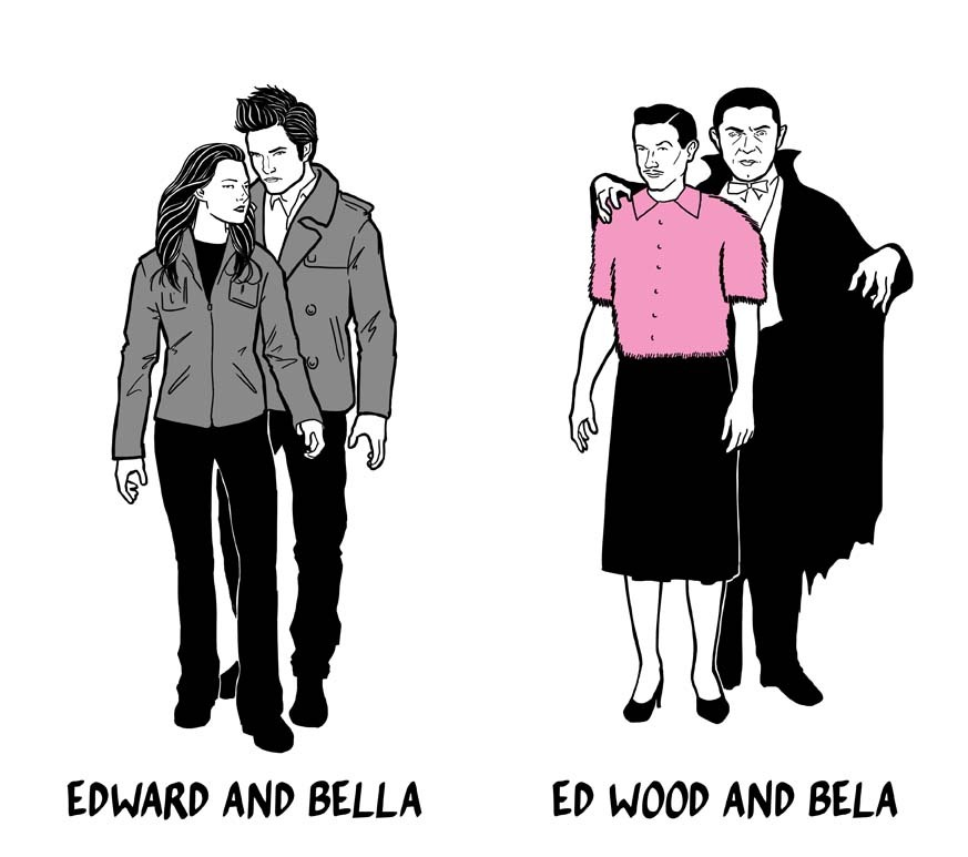 Edward & Bella vs. Ed Wood & Bella