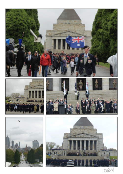 This week marked Anzac Day for Australia & New Zealand. We paid our respects by going to the services held in Melbourne at the Shrine of Remembrance. Lest we forget.