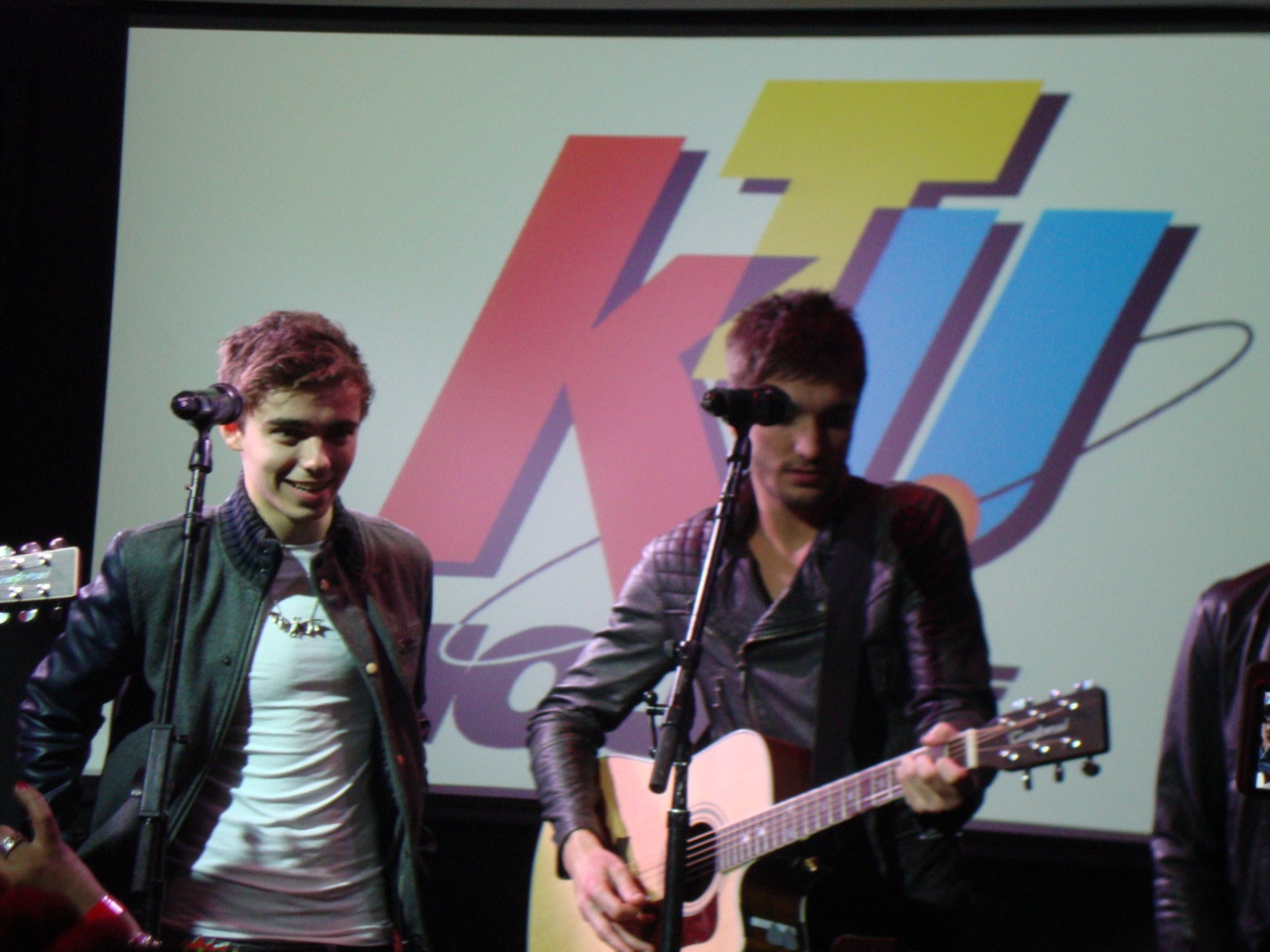 Tom and Nathan are just to cute. From the Album Release Party in NYC.