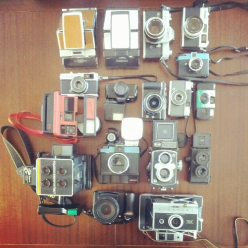 My small collection #cameras (Taken with instagram)