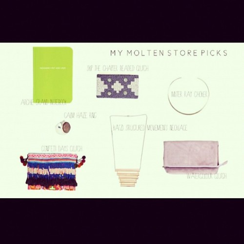 @_melissao shares her favourite selection of Molten Store goodies… (Taken with instagram)