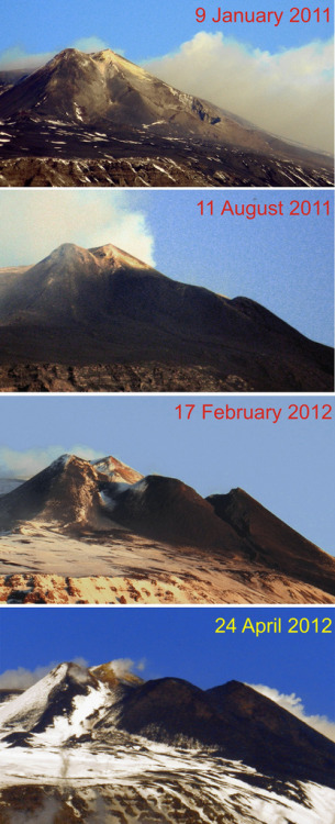 minimalminds:  Growth of Mt Etna!