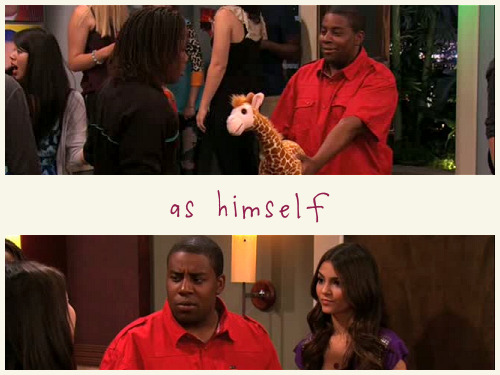 TV TROPE: As Himself  Tori: No way! Sam: Kenan Thompson? Freddie: You're Kenan! Carly: Oh my god! Andre: Yes, he's famous. Andre and Kenan: Where'd the panda go? (iParty with Victorious)