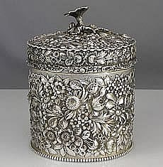 Early Stieff Sterling Tea Caddy. 1895