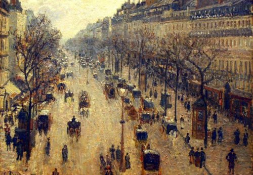 The Boulevard Montmartre on a winter morning ( 1897 ) - Camille Pissarro