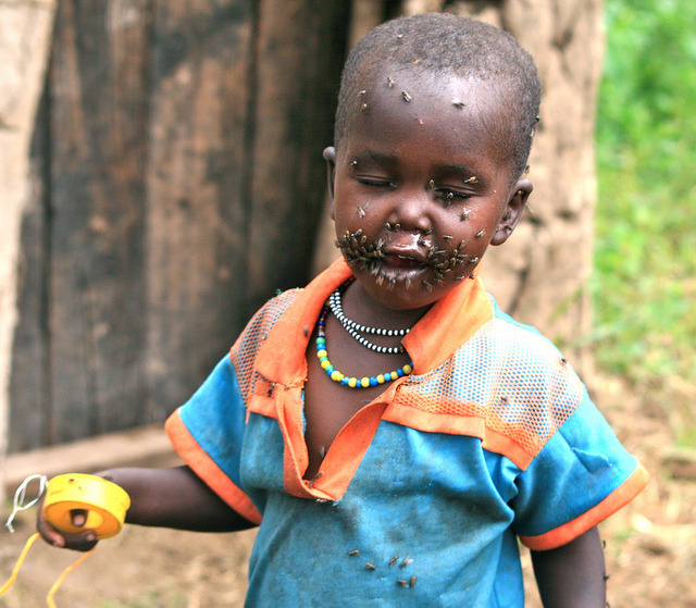 maasai child by davida3 on Flickr.kenya chronicals- flies are all over the villages- an excess of dung - flies carry trachoma