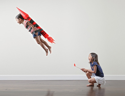 Creative dad takes crazy fun photos of his daughters! click through for lots more!