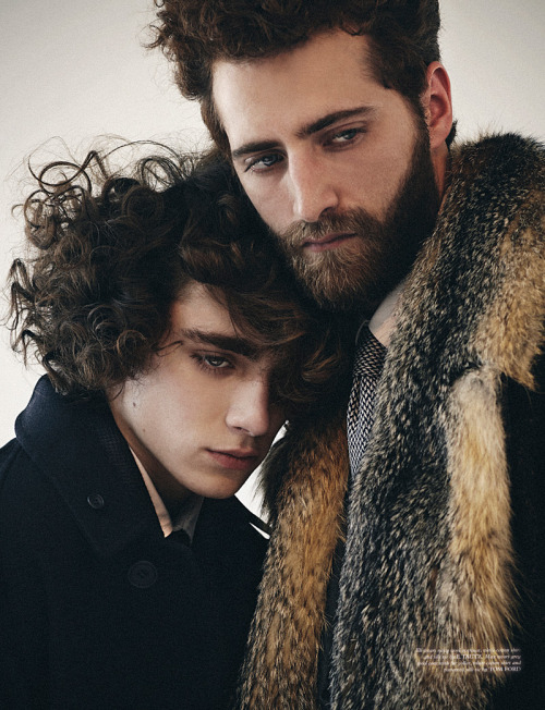 boysbygirls:  Friday's Finest: Eli Griffiths & Max H by Toby Knott for Wonderland. Styling by Way Perry.