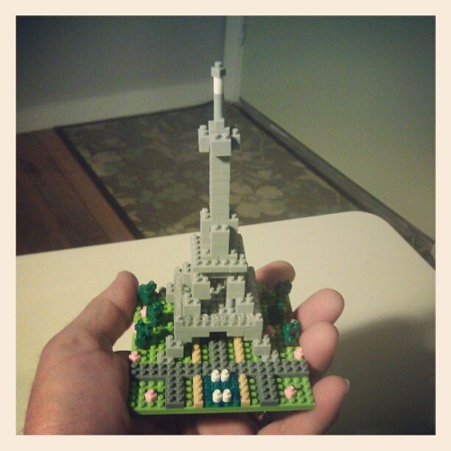 Nanoblock Eiffel Tower!  (Taken with instagram)