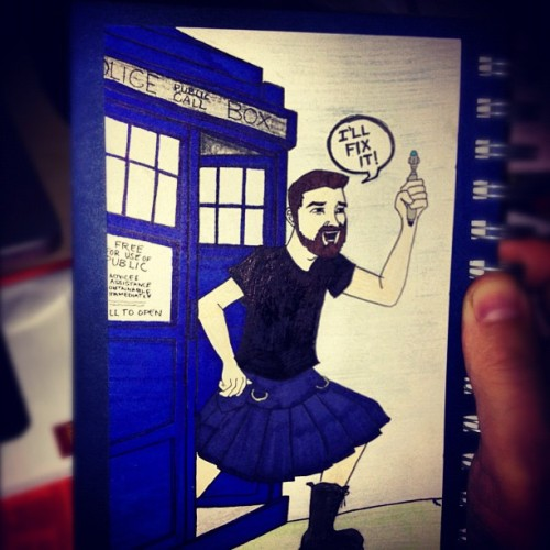 Doctor Who notebook my friend Bri made for me! #DoctorWho #kilt #TARDIS #sonicscrewdriver (Taken with instagram)