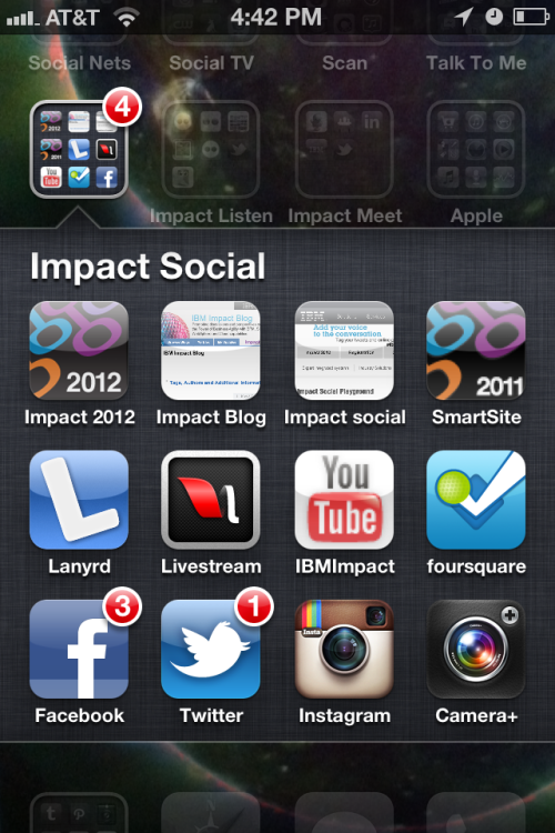 My Impact apps dock for social