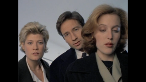 misskatie:  sexartandpolitics:  The X-Files 3x13 - Syzygy WHITE What is that? SCULLY What's what? WHITE That pattern, here, on his chest.MULDER Yeah, I see it, it looks like a, eh, goat, some kinda horned beast. SCULLY A horned beast? MULDER Yeah, right here, in this circle. SCULLY I think you guys are seeing something that isn't there. WHITE No, no, right here, look, you see, the horns are right there. SCULLY No, I don't see the horns right there. WHITE I assume you'll call me if you need anything further. MULDER If it's no bother, if it's not too big a deal, maybe you can get me a few photographs of that thing which bears absolutely no resemblance to a horned beast. SCULLY Sure, fine. Whatever.  i love me a peeved scully.