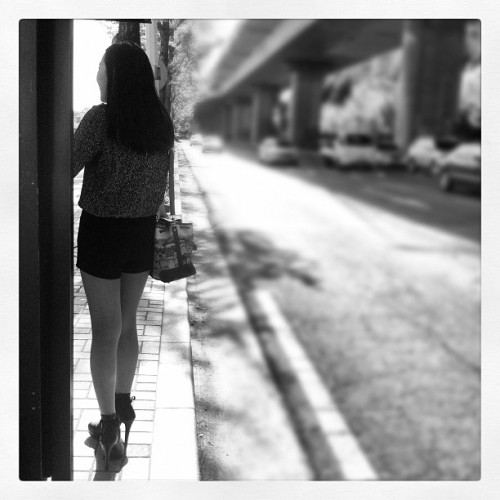 Short-shorts & Stilettos  (Taken with Instagram at 가야역 (Korail Gaya Sta.))