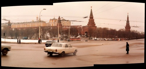 Arbatskaya Square, Moscow, December 1985.