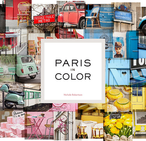 "Just finished browsing this new book, 'Paris in Color', and wrote a review:  Paris is such a beautiful, and big city, you really do need to take your time exploring it. And slowly, like a turtle. According to Nichole Robertson, the author of 'Paris in Color', walking with a pet turtle sets a slow pace in which to enjoy this beautiful city, and it was a fashionable thing to do in the 1800's. Armchair travellers will love this photo book for it captures those slices of Paris that most people would just pass by or take for granted. Unlike other travel books, Nichole has created one of ""the Paris you see when you step out of the shadows of monuments."" And this is what makes 'Paris in Color' unique. Even more intriguing is the back story behind the book. Nichole and her husband decided on a whim to move to Paris from New York. After moving to Paris, she says ""everything was a challenge in the best possible way."" Being out of her comfort zone was good for her, it turned out. She was able to slow down from the fast-paced New York creative scene, and carried her camera everywhere with her. Snapping photos ""of everything that caught my eye."" Ms. Robertson created a beautiful photo-blog titled 'Little Brown Pen', which features the most remarkable photographs of every-day Paris. The café's, scooters, signage, menu boards and snapshots of people, doing everyday things. San Francisco publisher, Chronicle Books, discovered her blog and asked if she'd like to create a book around one of her themes - the colors of Paris. Lucky for us, Nichole and her husband didn't over-think their impulsive decision to relocate to Paris. If not for a decision made over a few glasses of wine, 'Paris in Color' wouldn't exist. She says, ""I guess good things happen when you follow your bliss."""