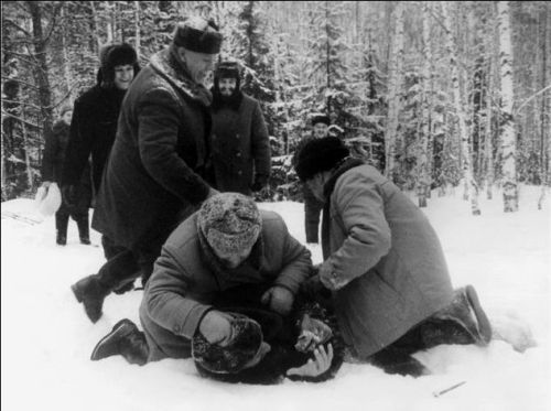Alberto Korda. Fidel and Khrushchev Playing in the Snow