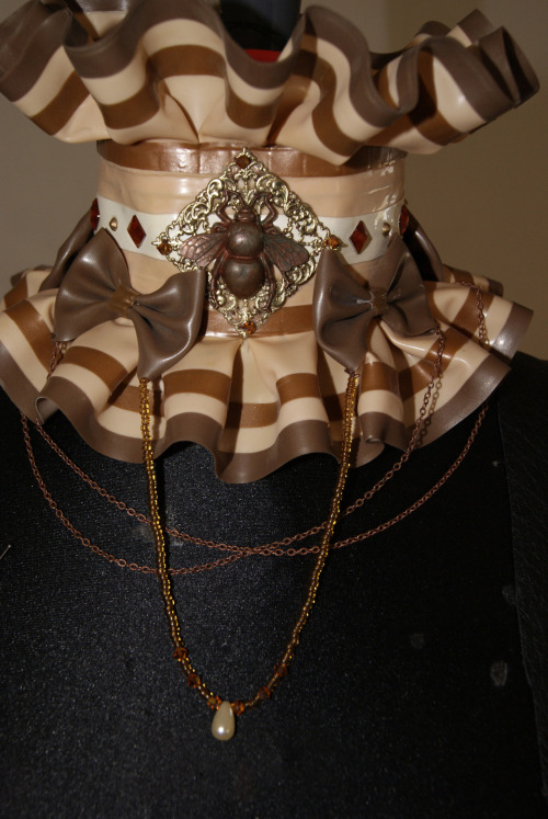 steampunk latex collar I've made yesterday