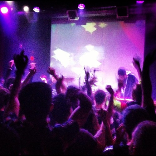 Dancing with the DJ. And @theknocks  (Taken with Instagram at Rickshaw Stop)