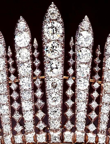 detail of the Fringe Tiara of Queen Mary