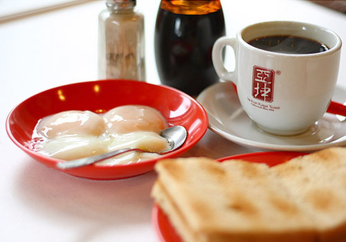 #4 LEGENDARY YA KUN kaya toast and soft boiled eggs <3 ($4.50 for this Set A!) @ many many places hehe