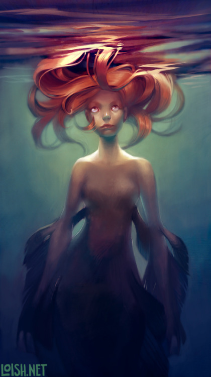 mermaid by `loish