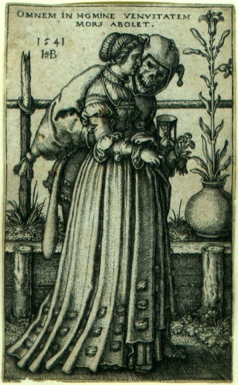 atrusprofanum:  Hans Sebald Beham -The Lady and Death- (1541)
