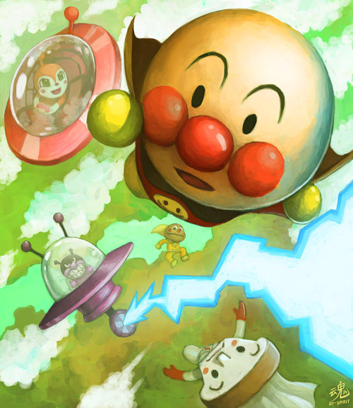 DIE ANPANMAN! by Ry-Spirit No actually don't… I love Anpanman, he has stuck by me during my childhood years. Oh Anpanman you're so courageous and delicious. <3