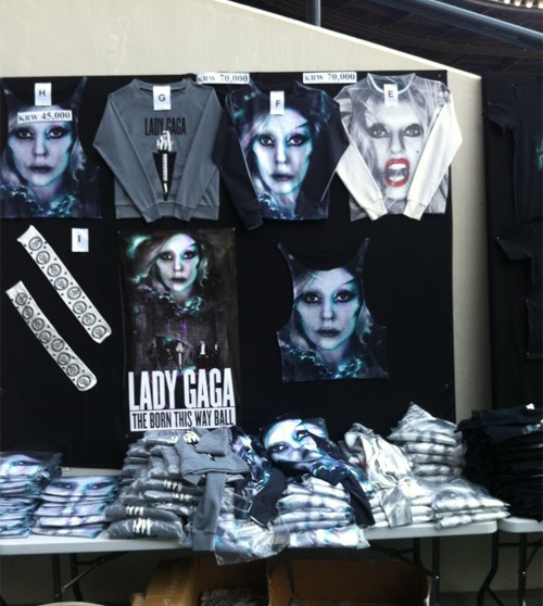 ladyxgaga:  Apparel for sale at The Born This Way Ball.