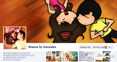 Changed my personal FB cover photo thingie wingie! The followup to my first creation which was done last December (which you can see here!) Photo taken from our prenup photoshoot! Do you like it? Hehe! I like my octopus-looking hair here! o.o If you want your own cartoonified cover photo, you can inquire about commissions! Email me at hello@sheenalovessunsets.com for more info! Hehe!