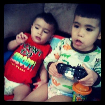 my favorite boys playing video games.