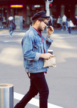 meninthistown:  Rolling in denim.