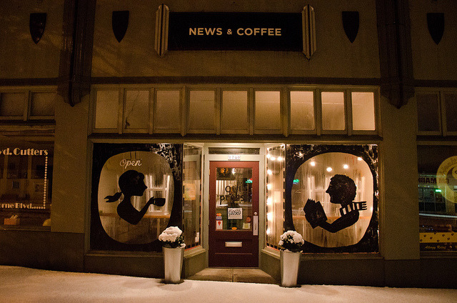 cafesblog:  Oui Presse, Portland  Love these little coffee shops