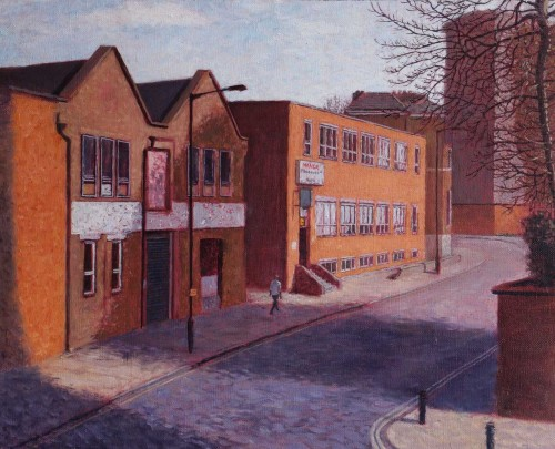 Manor Road, Stoke Newington, early spring 2012 Oil on canvas, 33 x 41 cm