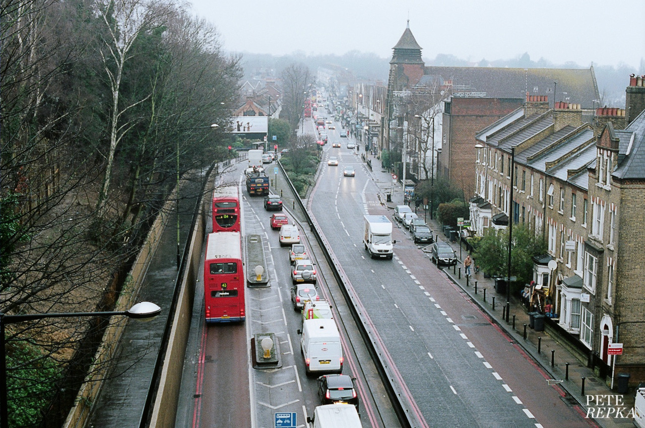 The view North from Suicide Bridge.(see that red post box in the distance on the right - that's where my flat is. one of those tall pointy buildings. cool huh ? - i love north london)