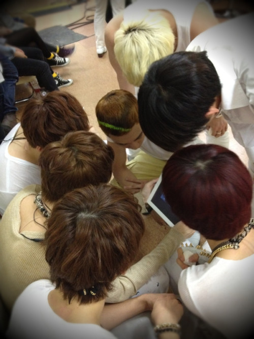u-kissheart:  U-KISS <3 Cr:ukisskorea@twitter  love their hair colours.