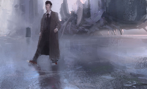 heyoscarwilde:  wibbly wobbly timey wimey Doctor Who illustrated by Ling Yun :: via lingy-0.deviantart.com