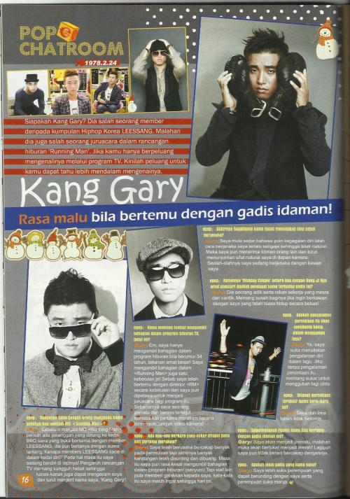 #RunningMan #KangGary @Peaceful_Gary #Epop #Megazine #December 2011.