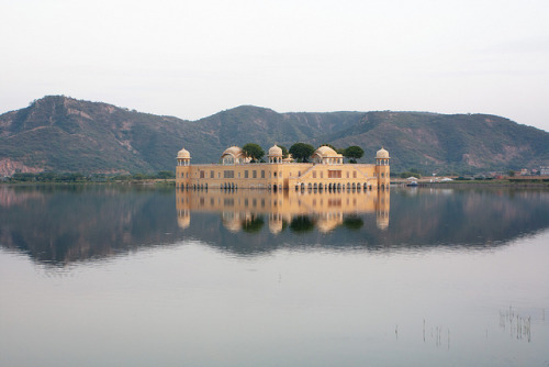 "IMG_4020 by Jelle Drok on Flickr.1001 night in Jaipur, India Water Palace (Jal Mahal). Such a beautiful place!Via Flickr: The ""Water Palace"" in Jaipur, Rajasthan.en.wikipedia.org/wiki/Jal_Mahal"